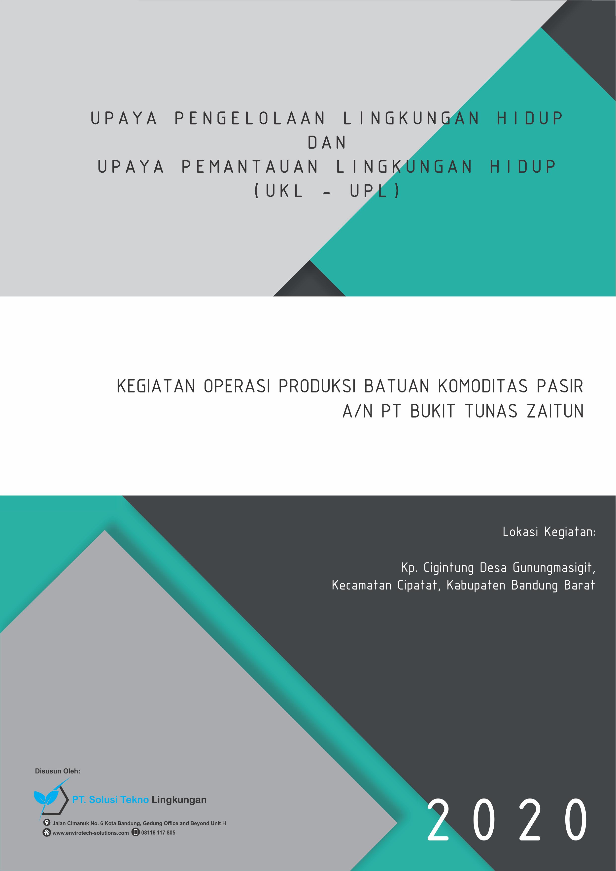 UKL-UPL PT. Bukit Tunas Zaitun