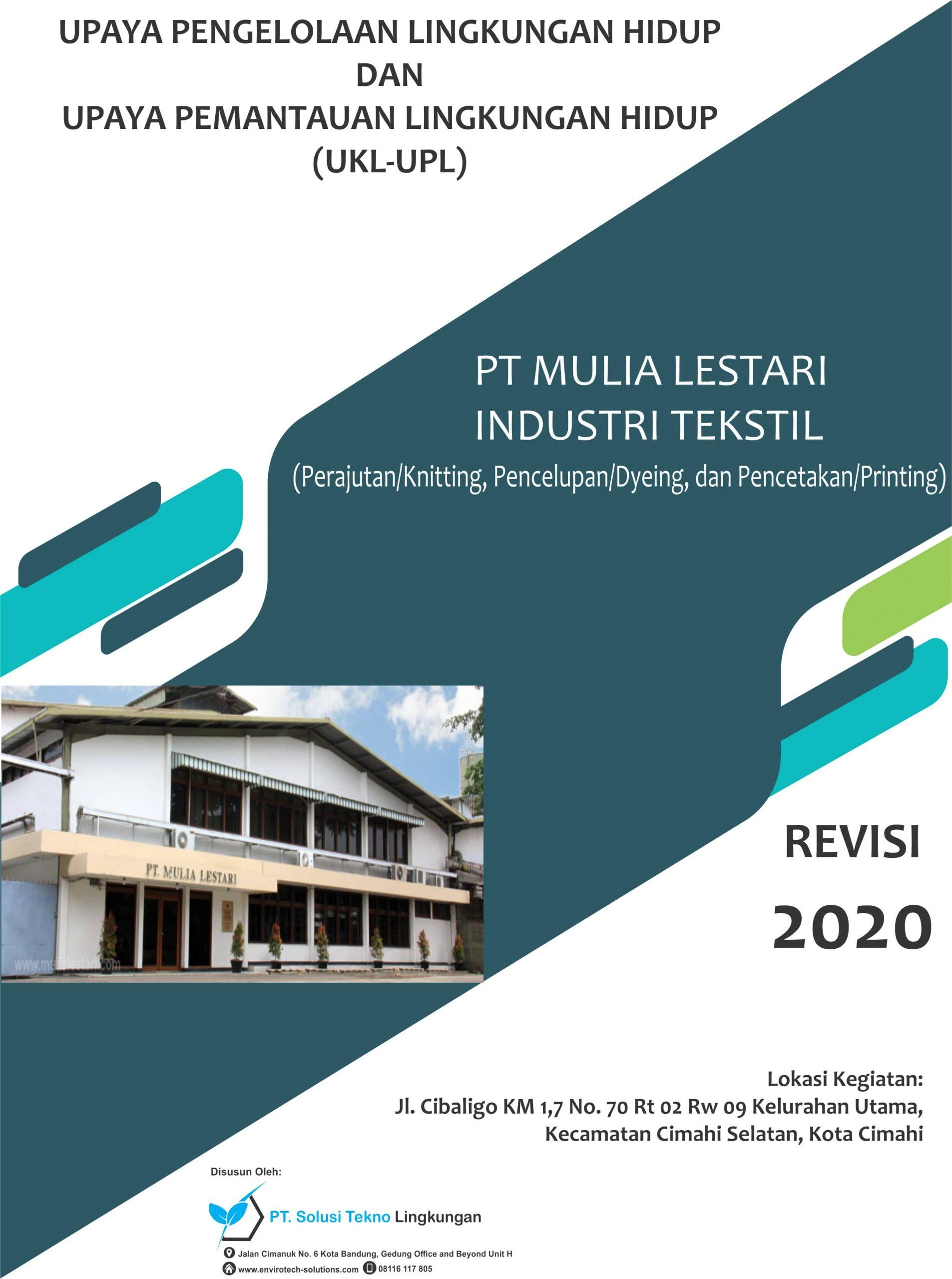 UKL-UPL PT Mulia Lestari