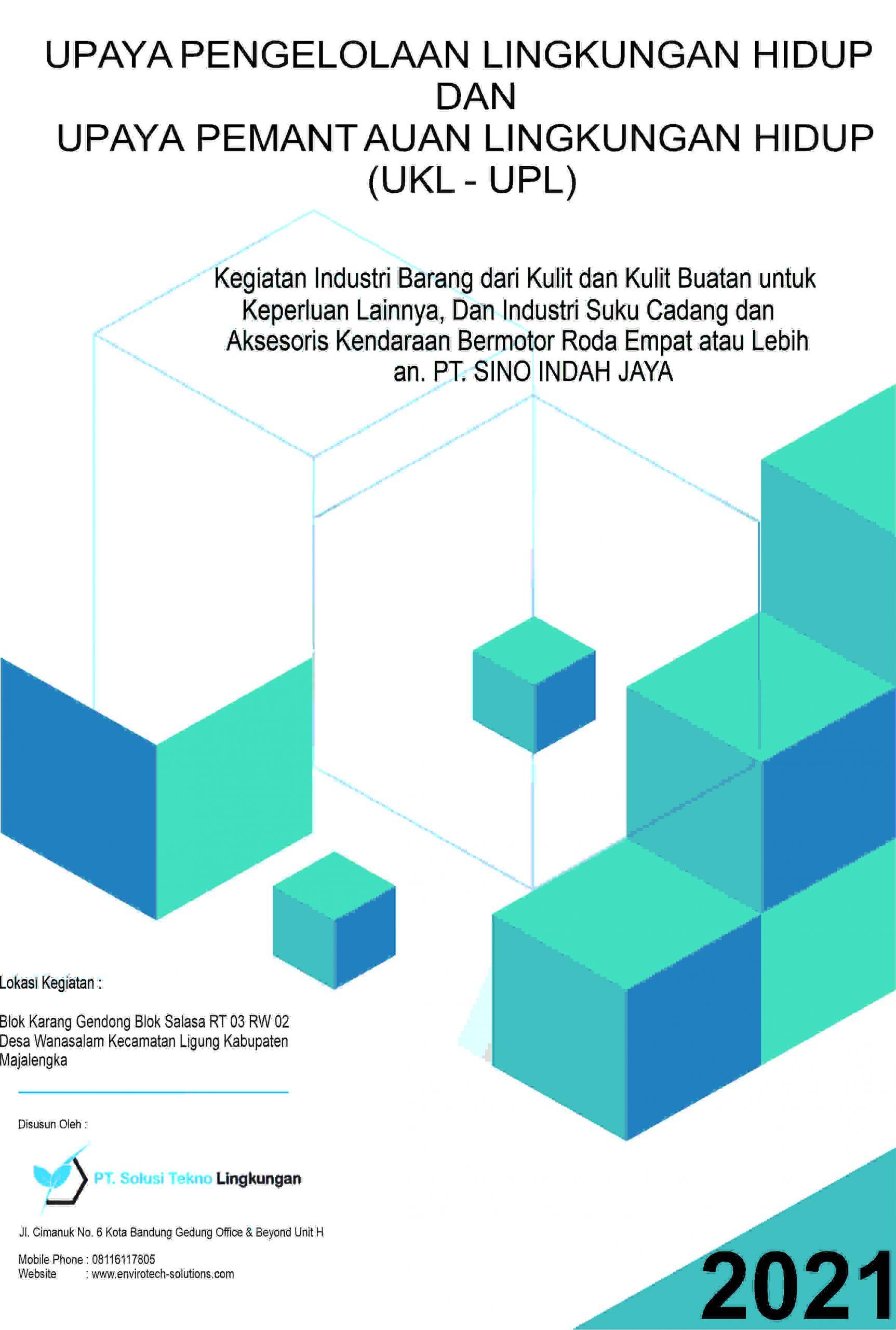 UKL-UPL PT Sino Indah Jaya – Kabupaten Majalengka